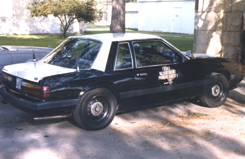 1983 85 Texas Highway Patrol Mustangs